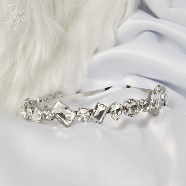 KENDALL CRYSTAL HEADBAND C006104: HAIR ACCESSORIES, WEDDING HAIR BLING, BRIDESMAIDS