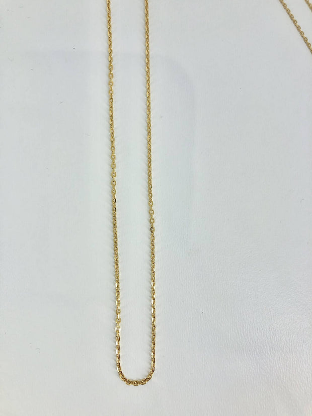 9ct gold cable chain 40