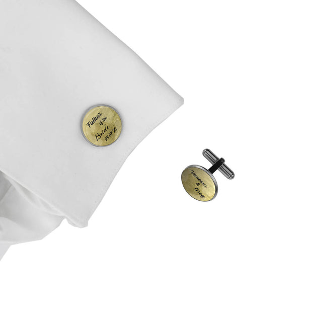 Father of the Bride with Date and Names, Wedding Gift, Personalised cufflinks, customised cufflinks, MFY38