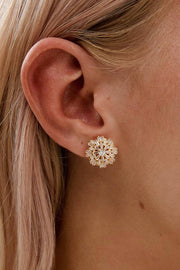 CHARLOTTE - 18K GOLD STARBURST STUD EARRINGS