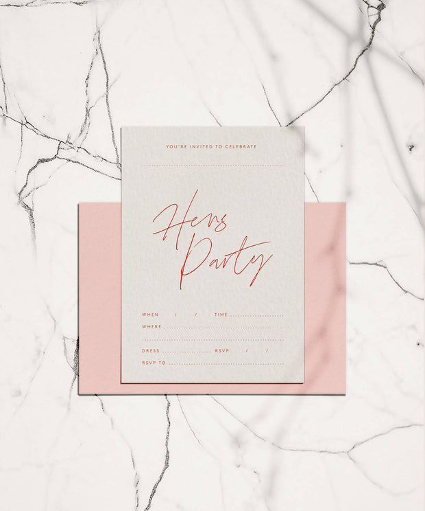 Hens Party Invitation - 10 Pack