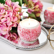 Pink Mosaic Soy Wax Candles