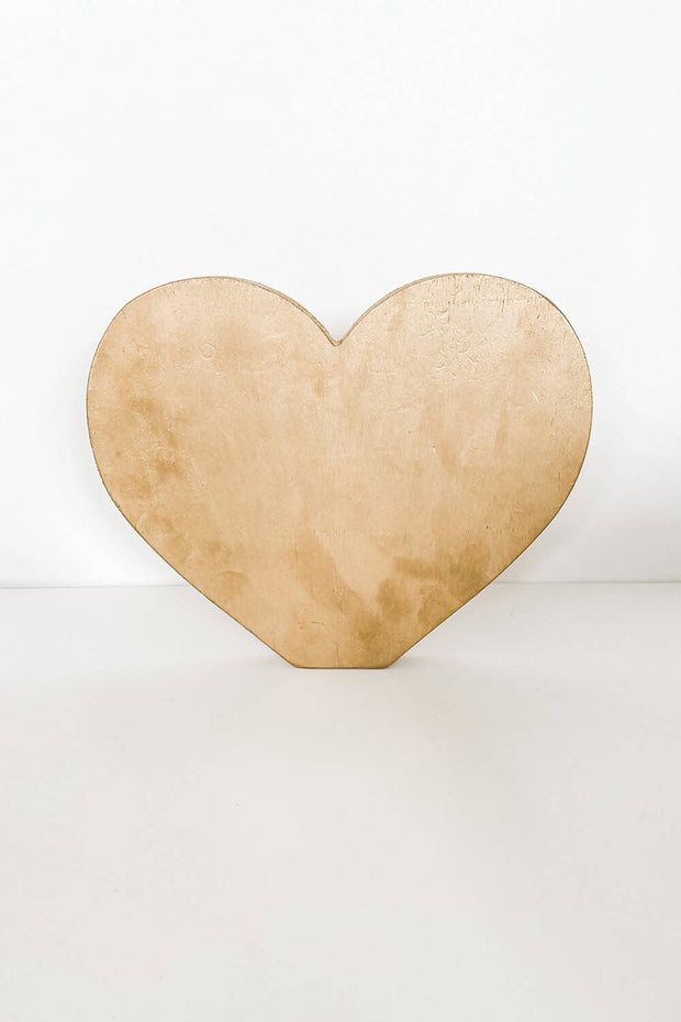 Gold Love Heart