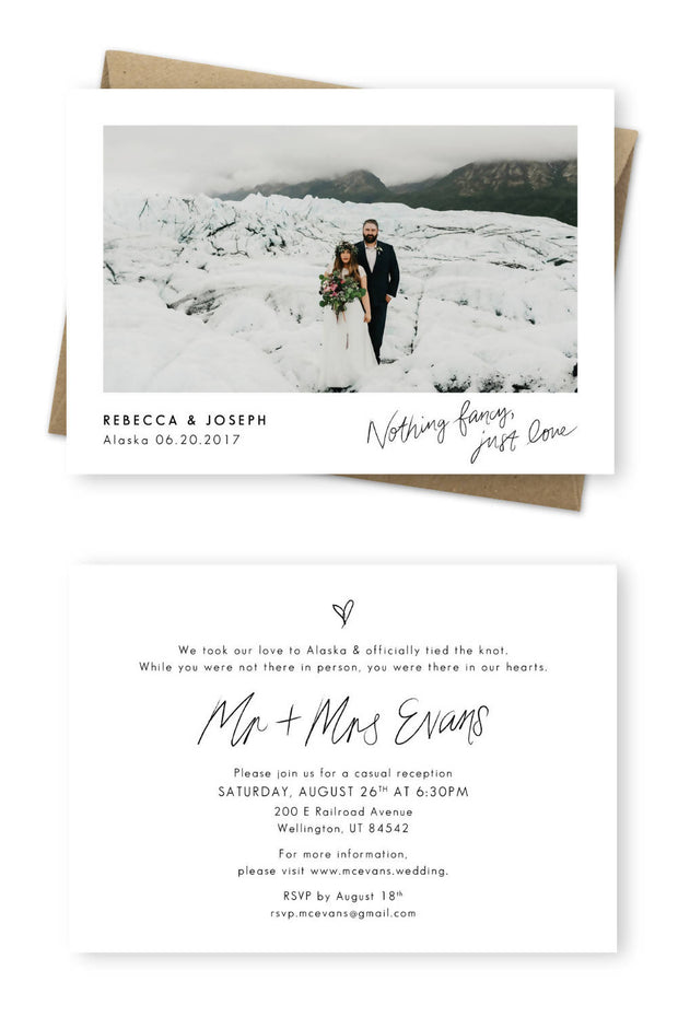 Printable Elopement Announcement
