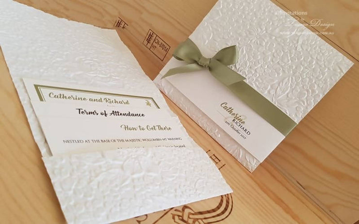 Greenery Pocket Invitation Suite: Floral Romantic + Main invite Card + RSVP + Info Card