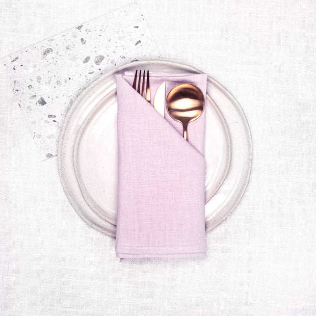 LIGHT BLUSH 100% LINEN NAPKIN