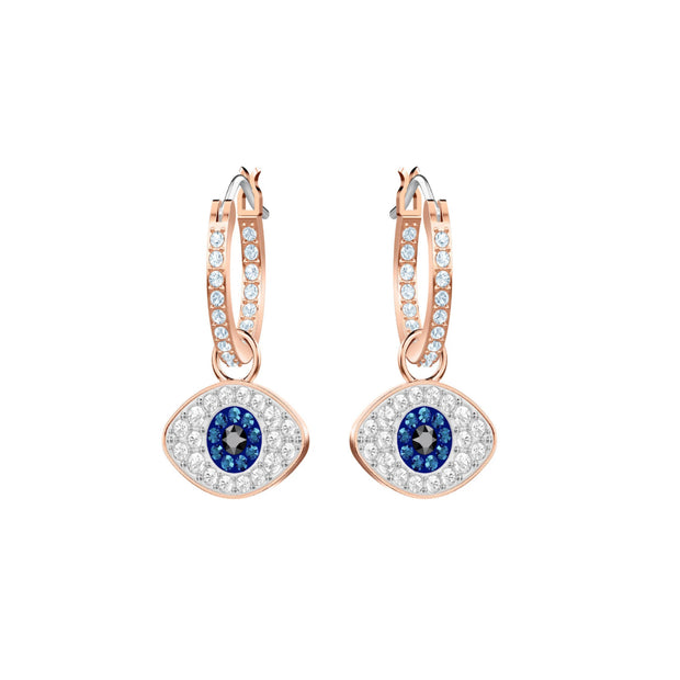 Swarovski Symbolic Evil Eye Hoop Earrings