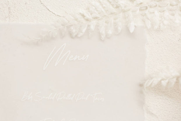 AMANDA | Translucent torn edge menu