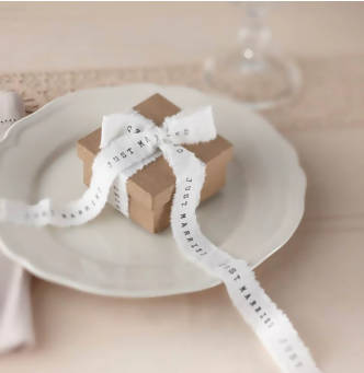 'Just Married' Printed Ribbon