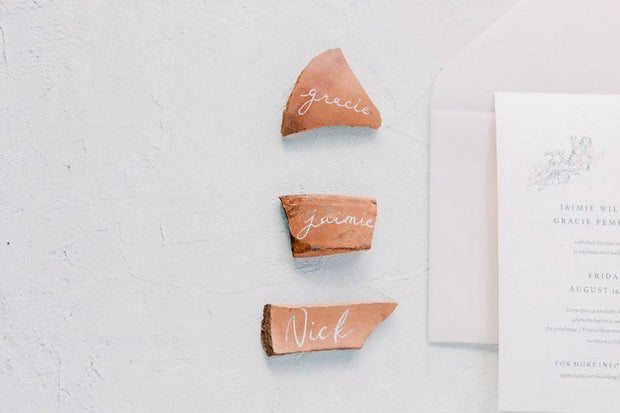 CORA | Broken terracotta placecard
