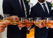 Personalised Grooms Party Scotch Glasses