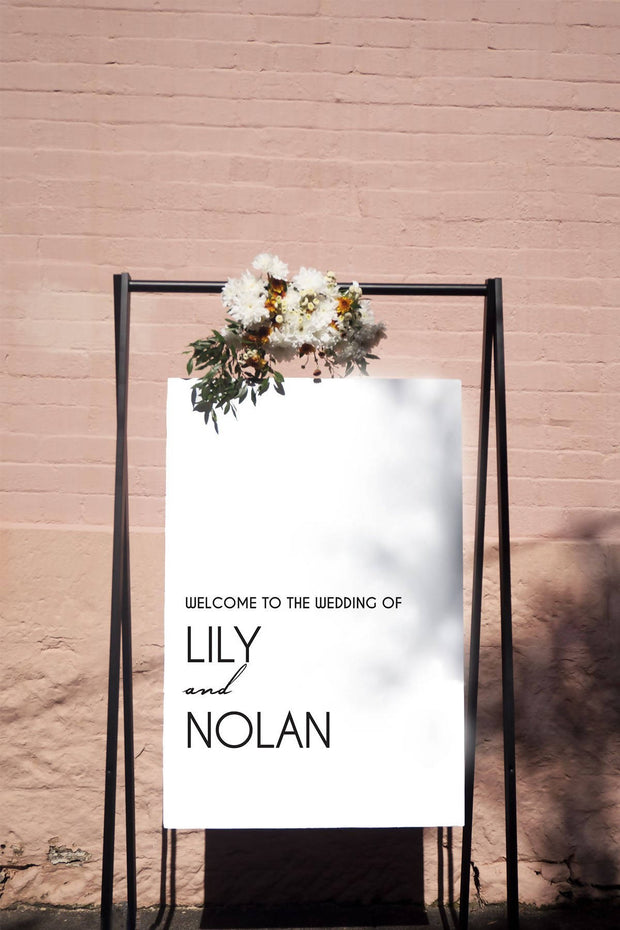 Lily & Nolan Welcome Sign