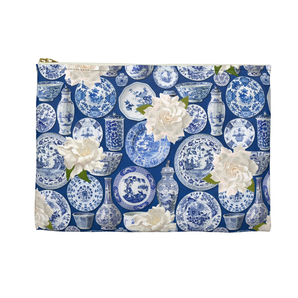 Blue & White China Makeup/Pencil Bag