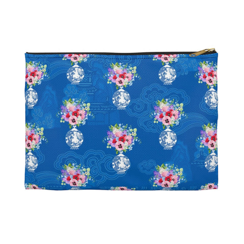 Blue Chinoiserie Dreams Ginger Jar Makeup/Pencil Bag