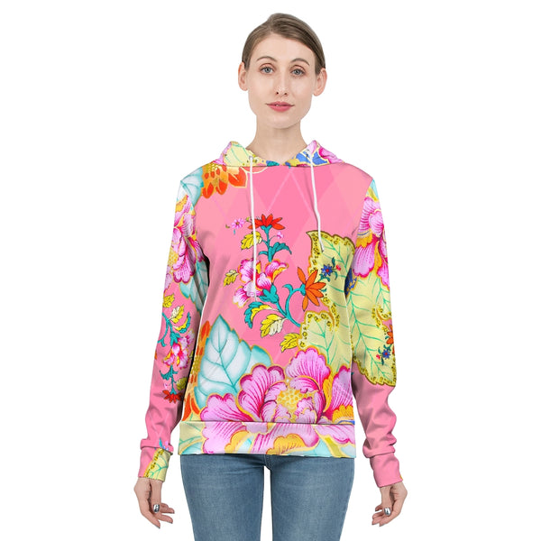Blush Argyle Tobacco Leaf China Women's Hoodie