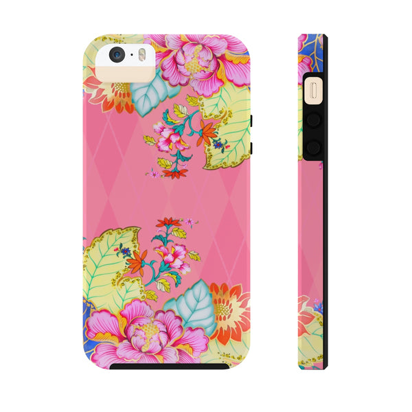 Blush Argyle Tobacco Leaf China Case Mate Tough Phone Cases