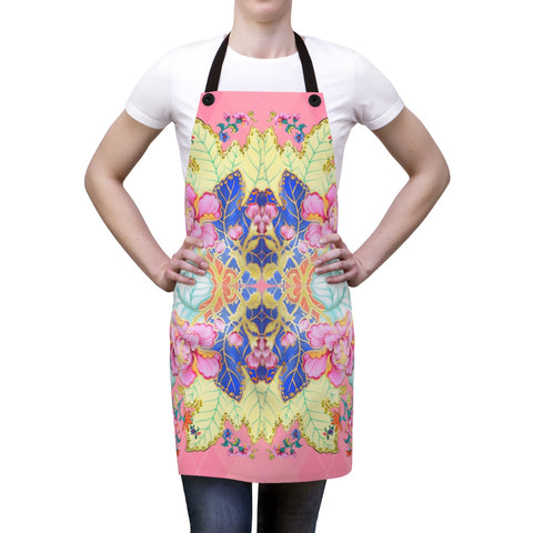 Blush Argyle Tobacco Leaf China Kitchen Apron