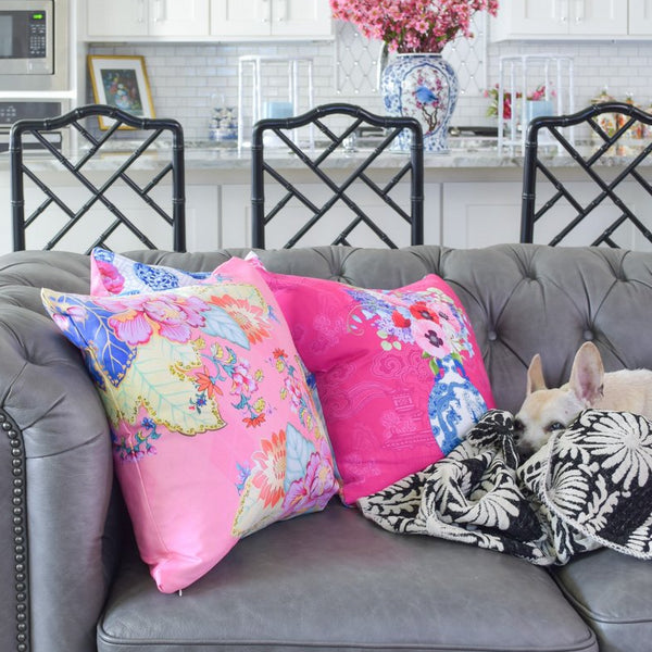 Chinoiserie throw pillow covers for sale for home decor