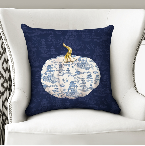 Chinoiserie throw pillow cover