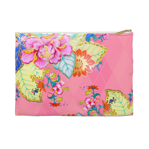 Blush Argyle Tobacco Leaf China Makeup/Pencil Bag