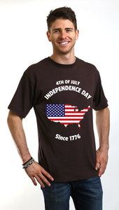 4th of July Men's Bamboo Viscose/Organic Cotton Short Sleeve T-Shirt - Spun Bamboo