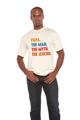 Papa, the Man, the Myth, the Legend Men's Bamboo Viscose/Organic Cotton Short Sleeve T-Shirt