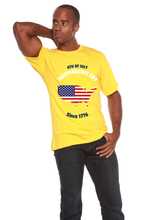 Load image into Gallery viewer, 4th of July Men's Bamboo Viscose/Organic Cotton Short Sleeve T-Shirt - Spun Bamboo