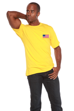 Load image into Gallery viewer, American Flag Men's Bamboo Viscose/Organic Cotton Short Sleeve T-Shirt - Spun Bamboo