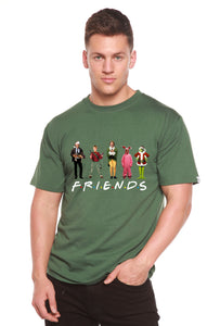Funny Christmas Movies Printed Men's Bamboo T-Shirt