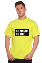 Load image into Gallery viewer, No Music No Life Printed Men's Bamboo Viscose/Organic Cotton Short Sleeve T-Shirt