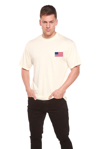American Flag Men's Bamboo Viscose/Organic Cotton Short Sleeve T-Shirt - Spun Bamboo