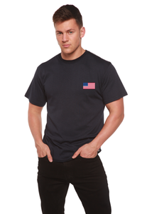 American Flag Men's Bamboo Viscose/Organic Cotton Short Sleeve T-Shirt