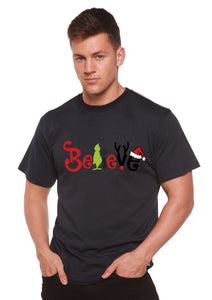 Believe Christmas Printed Men's Bamboo T-Shirt