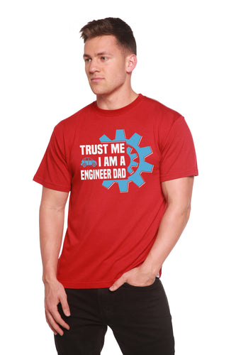 Trust Me I'm a Engineer Dad Men's Bamboo Viscose/Organic Cotton Short Sleeve T-Shirt - Spun Bamboo