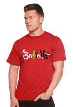 Load image into Gallery viewer, Believe Christmas Printed Men's Bamboo T-Shirt
