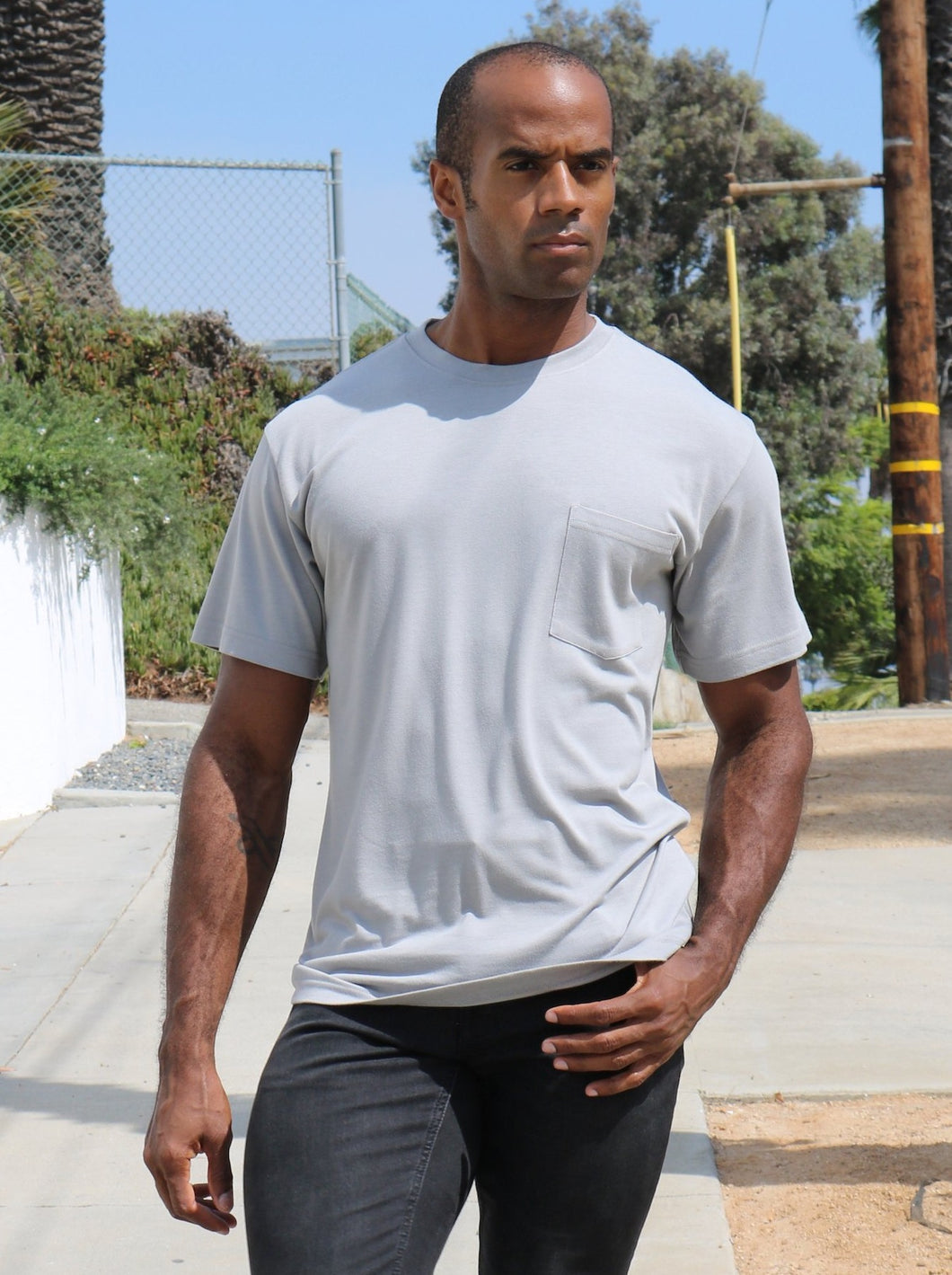 Men's Bamboo Viscose/Organic Cotton Pocket T-Shirt