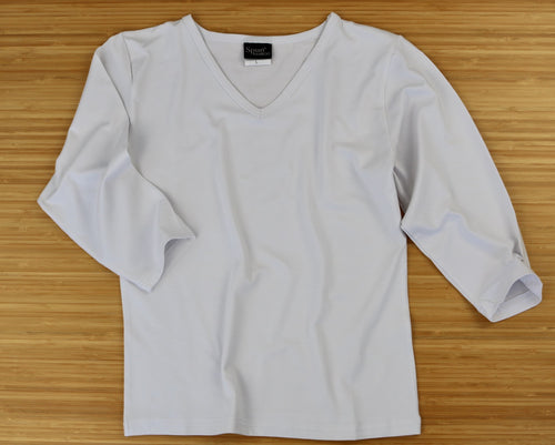 Clearance Women's Bamboo Viscose/Cotton V-Necks 3/4 Sleeve T-Shirt