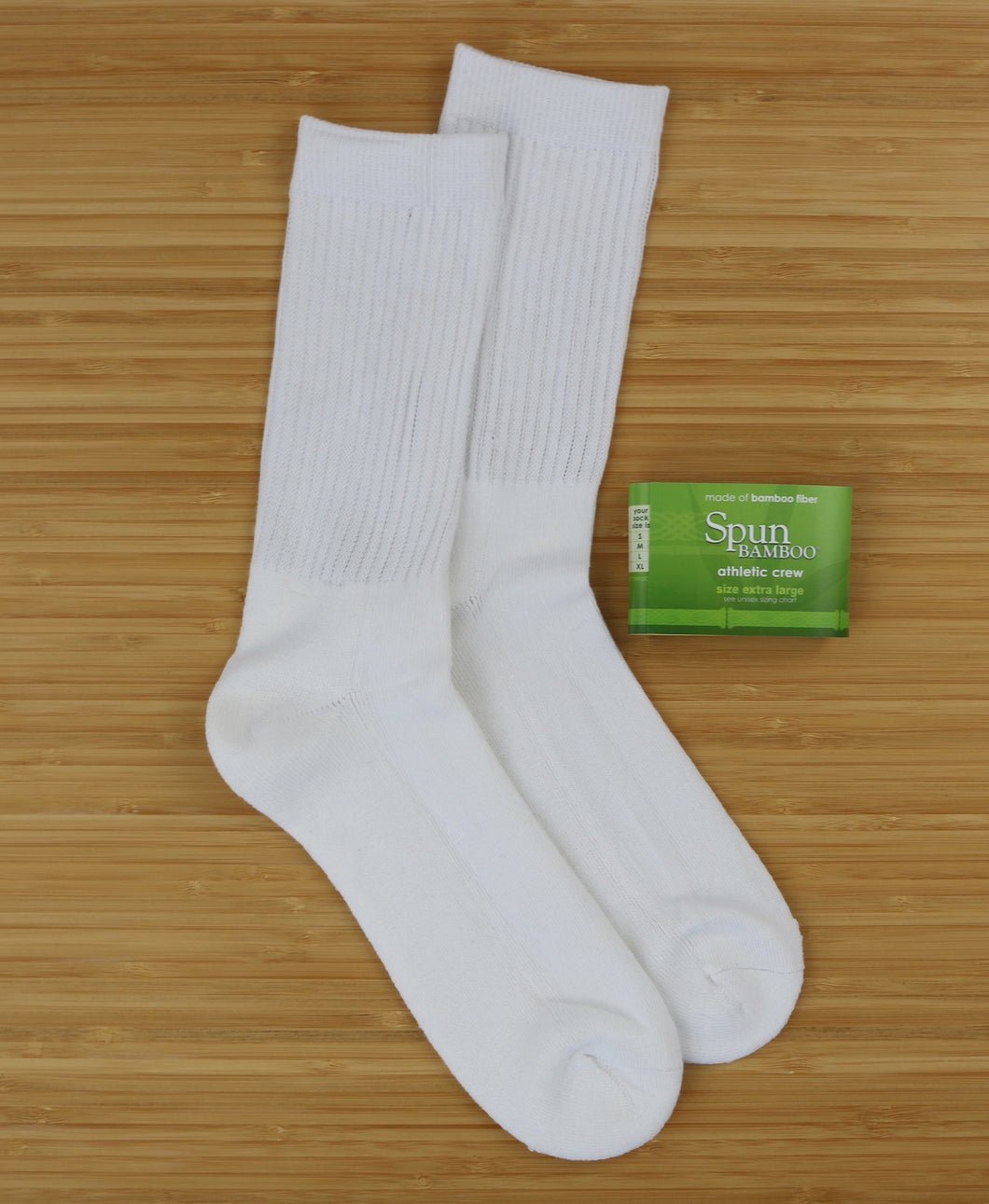 Clearance 3/4 Crew Athletic Bamboo Viscose Socks - White