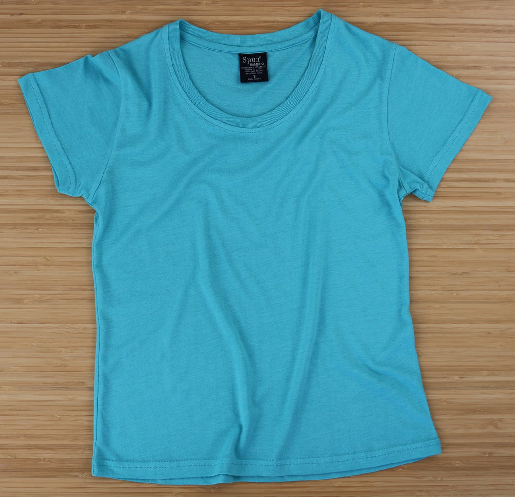Clearance Spun Bamboo Women's Bamboo/Cotton Short Sleeve Crew Neck T-Shirt