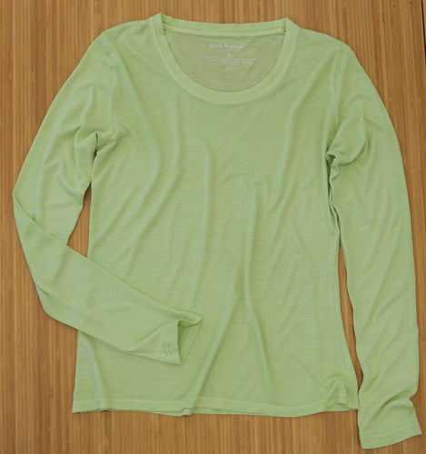 Clearance Women's Scoop Neck 100% Bamboo Viscose Long Sleeve Shirt