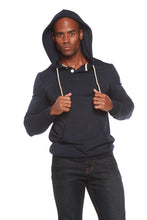 Load image into Gallery viewer, Men's Henley Style Bamboo Viscose Fleece Hoodie - Spun Bamboo