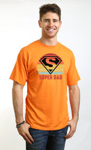 Load image into Gallery viewer, Super Dad Men's Bamboo Viscose/Organic Cotton Short Sleeve T-Shirt - Spun Bamboo