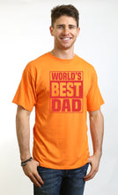 Load image into Gallery viewer, World's Best Dad Men's Bamboo Viscose/Organic Cotton Short Sleeve T-Shirt - Spun Bamboo