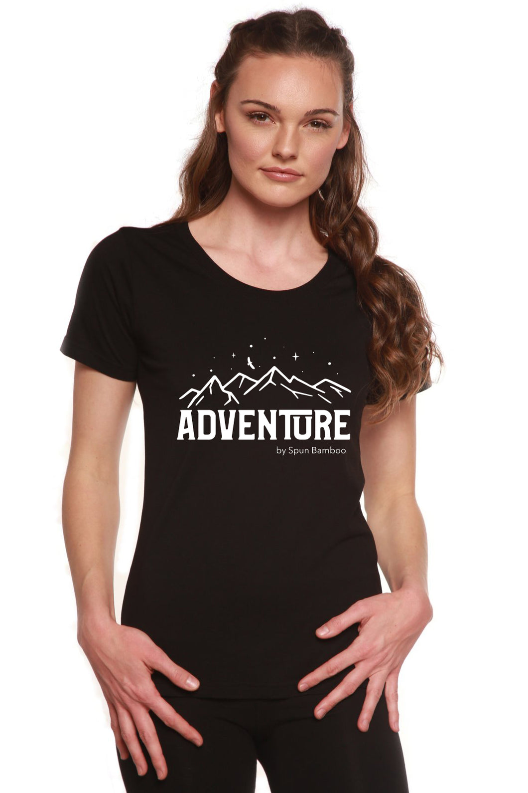 Adventure Printed Women's Bamboo/Cotton Short Sleeve Scoop Neck T-Shirt