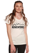 Load image into Gallery viewer, Adventure Printed Women's Bamboo/Cotton Short Sleeve Scoop Neck T-Shirt