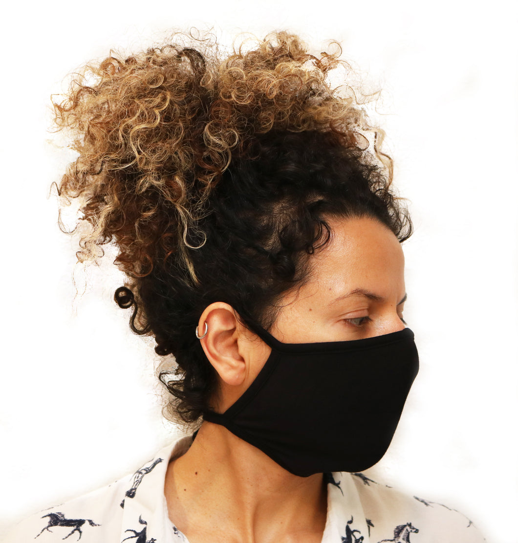 X Large Triple Layer Breathable Bamboo Viscose Face Mask with String Ties - Spun Bamboo