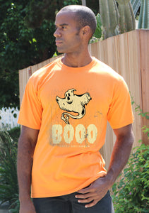 Happy Halloween Graphic Men's Bamboo Viscose/Organic Cotton Short Sleeve T-Shirt