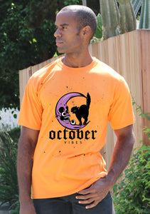 October Vibes Graphic Men's Bamboo Viscose/Organic Cotton Short Sleeve T-Shirt