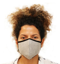 Load image into Gallery viewer, X Large Triple Layer Breathable Bamboo Viscose Face Mask with String Ties - Spun Bamboo