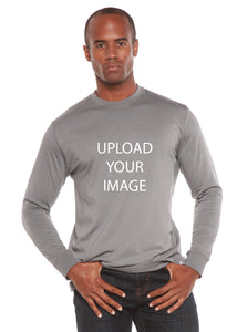 Custom Printed Men's Bamboo Viscose/Organic Cotton Long Sleeve T-Shirt
